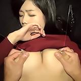 着衣から滴る母乳…